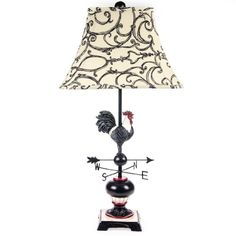 Rooster Weather Vane Lamp