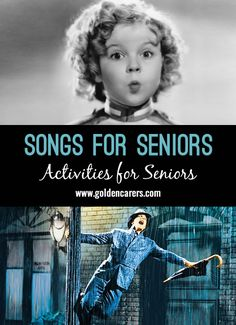 # World Music Day - June 21 # Songs for Seniors Quiz: Here is an over song list. It includes lyrics to over 80 popular songs from yesteryear to enjoy in a sing-along. Sing the first line, and then ask residents to sing the next line! Activities For Dementia Patients, Alzheimers Activities, Elderly Activities, Work Activities, Physical Activities, Physical Education, Outdoor Activities, Spring Activities, Elderly Crafts