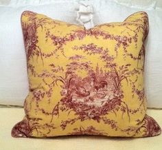 Red French Country Bedroom | French Country Toile Bedding | French Provencal Red Yellow Rooster ...