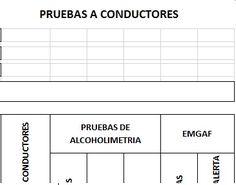 SGSST | Formato Prueba a Conductores Alcoholimetría.
