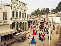 Sovereign Hill is a living museum of Colonial Australia in the goldrush times...a stunning place !