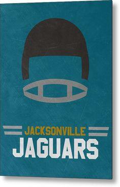 Jaguars Metal Print featuring the mixed media Jacksonville Jaguars Vintage Art…