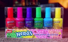 Nerds smelling nail polish? Yes please!