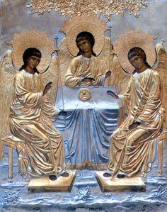 Святая Троица Chi Rho, Pictures Of Jesus Christ, Jesus Christus, Biblical Art, Orthodox Icons, Mother Mary, Science Art, Religious Art, Holy Spirit