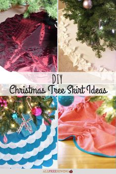 Learn how to sew a tree skirt that is both practical and decorative. With this list of DIY Christmas tree skirt ideas, you'll find lots of patterns! Christmas Sewing Patterns, Christmas Tree Skirts Patterns, Christmas Sewing Projects, Sewing Patterns Free, Diy Christmas Tree Skirt, Christmas Diy, Crochet Christmas, Dishcloth Knitting Patterns, Knit Dishcloth