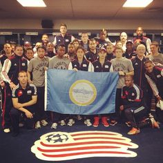 The Revs' players and coaches show their support for Boston. #Bostonstrong