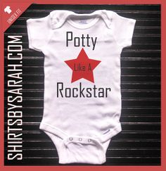 Potty Like A Rockstar Funny Baby Onesie Custom - Personalized Onesies for Babies on Etsy, $19.99