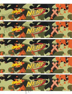 Instant Download Nerf Party Water Bottle printable jpeg for diy on Etsy, $2.00