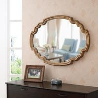 Shop Kate and Laurel Leanna Scalloped Oval Wall Mirror - Gold - 24x36 - Overstock - 31288732 Entryway Wall, Mirror Shapes, Pedestal Sink, Home Decor Outlet, Home Decor Accessories, Design Crafts, Wall Mirror, Mirrors, Mirror Bathroom