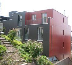 Fassade / gemütliches Wohnen Modern, Garage Doors, Shed, Outdoor Structures, Outdoor Decor, Home Decor, Timber Wood, Cozy Living, Trendy Tree