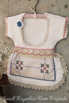 Easy Sew Clothespin Bag From A Keepsake Baby Dress Big