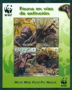 Peru 2004 WWF Giant Otter MS MUH lot76265