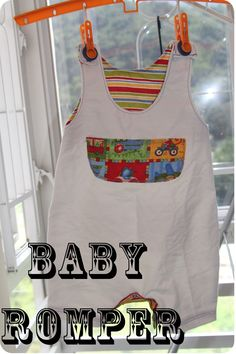 Today Ive got a new pattern for an old post. This free overall pattern has go Boys Sewing Patterns, Baby Girl Patterns, Baby Clothes Patterns, Sewing Ideas, Sewing Diy, Baby Romper Pattern, Baby Boy Romper, Baby Rompers, Sewing Projects For Kids