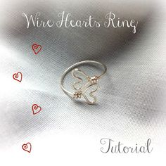 Stepping Thru Crazy: Wire Hearts Ring- A Tutorial
