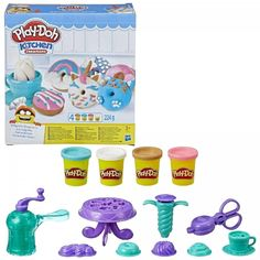 Play Doh Art, Donuts, Play Doh Colors, Play Doh Kitchen, Pony Party, Bunt, Different Colors, Arts And Crafts, Colours