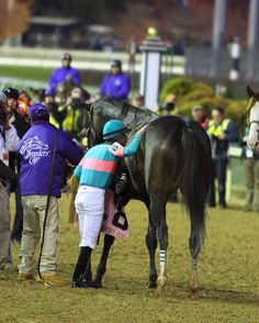 Even after her one defeat, Mike Smith kissed Zenyatta. Two very amazing people...