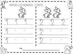 Fichas números 1-6 Preschool Number Worksheets, Multiplication Worksheets, Numbers Preschool, Preschool Math, Math Activities, Kindergarten, Finger Plays, Step Kids, Sistema Solar