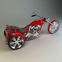3D trike motorcycle