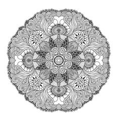 Sample Page From The Intricate Ornaments Coloring Book