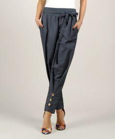 Navy Linen Pants