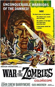 War Of The Zombies  1964  Movie Poster >>> Click image for more details.Note:It is affiliate link to Amazon. #2017