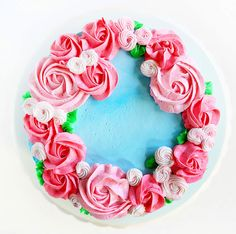 Mother's Day Cake {easy rosette's}