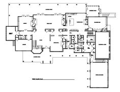 Home Floor Plan W Two Lane Bowling Alley Mansion