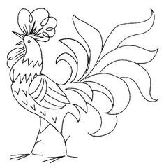 I just love roosters. They're so cheerful! I'm thinking of quilling one for my daughter's Bday. #VintageEmbroideryPatterns