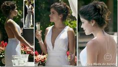 Vestidos de noiva da Aline, da convidada e das não-convidadas no seu casamento na novela Amor à Vida