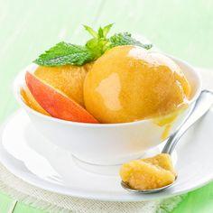 Low Carb Pfirsich-Sorbet selber machen