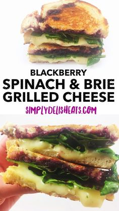 10 minutes to make, blackberry, spinach & brie grilled cheese sandwich - one of my favorite recipes!