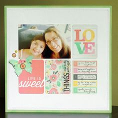 Just popping in today to share a layout for July's Pages With Papertrey Challenge . This month's challenge is to include some journalin. Project Life Album, Journal Cards, Scrapbooking Layouts, Free Printables, Journaling, Challenges, Frame, Sweet, Projects