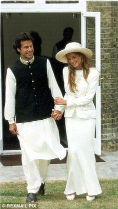 Cricketer, Imran Khan and Jemima Khan
