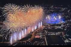 Opening Ceremony. The Olympic fireworks #London2012 #Olympics