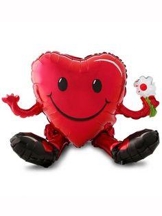 Valentine's Day Smiley Heart Multi-Foil Balloon