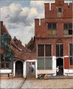 Johannes Vermeer, The Little Street, 1660, Amsterdam, Rijksmuseum, dutch genre painting