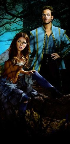Anna Kendrick and Chris Pine as Cinderella and The Prince in 'Into The Woods'