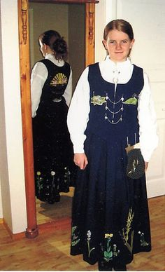 FolkCostume&Embroidery: Overview of Norwegian costume, part 4 The North Norwegian Clothing, Ethnic Dress, Modest Dresses, Norway, Costumes, Embroidery, Womens Fashion, Clothes, Hardanger