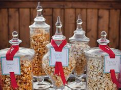 Once You Pop - 11 Low-Key Summer Party Ideas  on HGTV  My husband would love a popcorn bar! White bags for to go party favors
