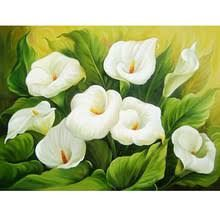 Cheap diamond mosaic, Buy Quality painting cross stitch directly from China diy diamond mosaic Suppliers: NEW Full Drill Square Diamond Embroidery Flowers Calla Diamond Painting Cross Stitch Home Decor DIY Diamond Mosaic Art Floral, Flower Canvas, Flower Art, White Flowers, Beautiful Flowers, Mosaic Pictures, 5d Diamond Painting, Cross Paintings, Mosaic Wall