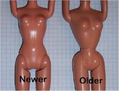 Differences and Measurements for the two main types of Barbie Dolls