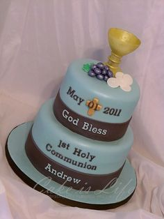 1st Communion Cake by Cake is Life ~ Emily, via Flickr
