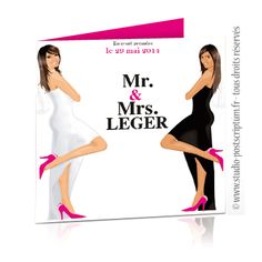 faire part de mariage original lesbien mrs mrs lesbian wedding save the - Idee Mariage Gay