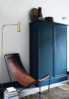Like everything about this, wonder if we could use chair though (how comfortable is it). leather sling chair by Michael Verheyden in his Genk, Belgium home