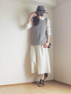 *•.●❃ Sさんのハット「MURUA 【LIFE STYLE】バイカラーテープHAT」を使ったコーディネート