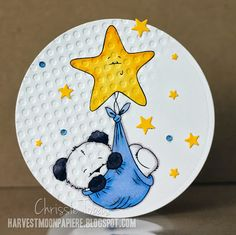 Chrissie Tobas (Harvest Moon Papiere) Party Paws: Baby Bamboo, Spectrum Noir Markers (BG1, BG6, BG9, CT3, CT4, TB2, TB4, TB5, Blender)