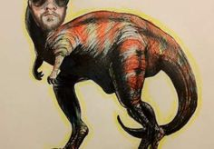 This artist will draw you as a dinosaur for $5.00. Amazing!