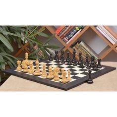 """Schachspiel - ,, Apache """" Staunton Schachfiguren aus Ebenholz und Buchsbaumholz (König 114 mm) mit furniertem Schachbrett aus Anigre schwarz und Ahornholz mit einer kostenloser Figurenbox >> http://www.chessbazaar.de/schachspiel/luxuriose-schachspiele/schachspiel-apache-staunton-schachfiguren-aus-ebenholz-und-buchsbaumholz-konig-114-mm-mit-furniertem-schachbrett-aus-anigre-schwarz-und-ahornholz-mit-einer-kostenloser-figurenbox.html"""