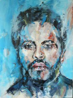 Lenny Kravitz, Art Visage, Shops, Expressive Art, Etsy Shop, Abstract Art, Etsy Seller, Vintage, Canvas