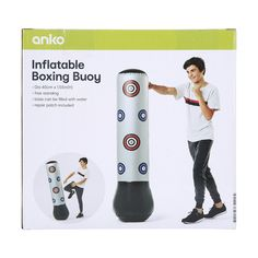 Punch hard and it will come back harder at you! This inflatable boxing buoy will help you improve hand speed and hand-eye coordination. Comebacks, Patches, Boxing, Room, Bedroom, Rum
